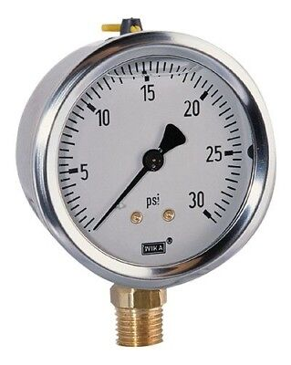 Wika 213.53 2.5 0 to 100 psi Industrial Gauge with Bottom Connection 2 1/2 Dial