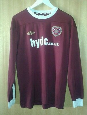 Hearts FC Shirt Official Youth Team Players Issue Size Large