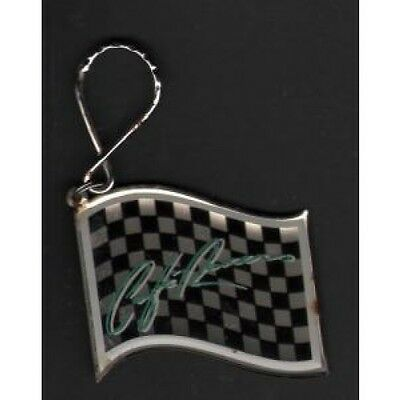 KIM CARNES Cafe Racers KEYRING Metal And Plastic Chequered Flag-Shaped Promo