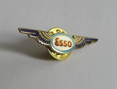 Esso Imperial Oil Aviation Fuel Gasoline Collector Lapel Hat Pin Four Color