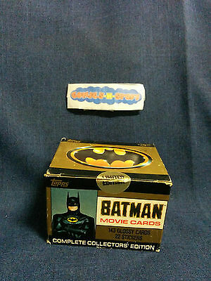 Batman Movie Cards 1989 Complete Collectors' Edition TOPPS