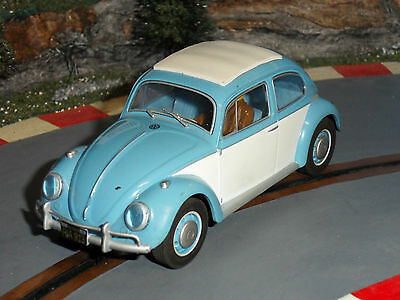 Used 1:32 Scalextric C3204 VW Beetle 1963 DPR Slot Car. Lights. GC.