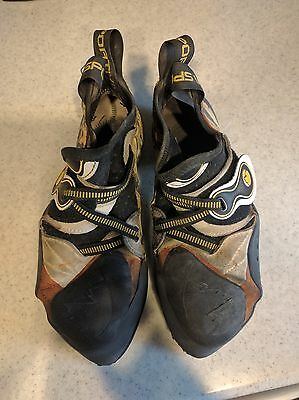 La Sportiva Solution Vibram XS Grip2 Climbing Shoes Size 42 US 9M Used As Is
