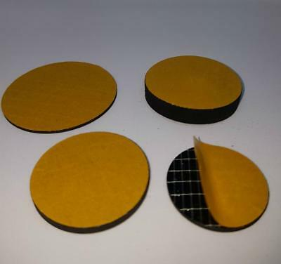 4 x Solid Neoprene Rubber Self Adhesive Mounting Feet 1mm thk - Bespoke sizes