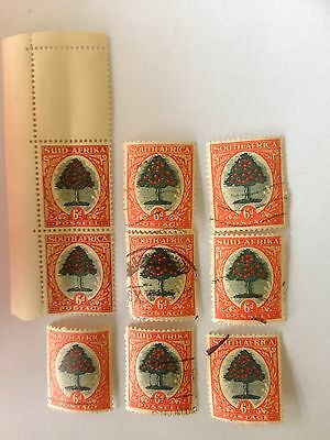 1926 X9 South African Stamps
