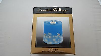 Country and Village Hurricane Candle Ensemble By The Sea New