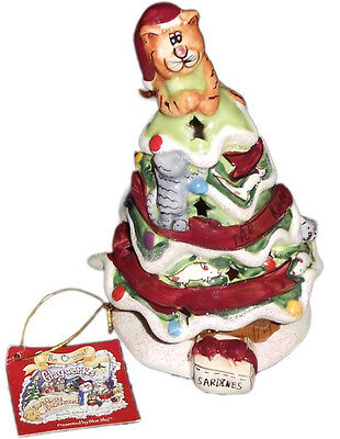 Blue sky clayworks, Heather Goldminc - The kitty tree candle house - No Box