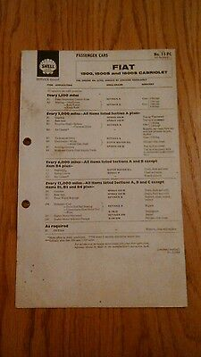 Fiat 1500,1500S,1600S Cabriolet Shell Service Guide.