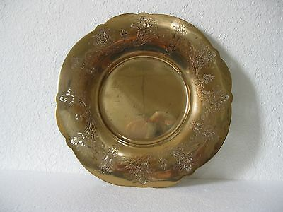 vintage brass charger/serving plate Marigold pattern by Wm. Rogers