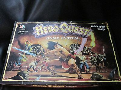 VTG RPG HeroQuest Role Playing Boardgame 100% Complete Milton Bradley 1990