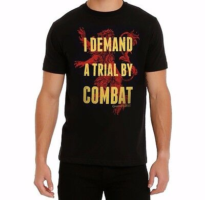 Game Of Thrones TRIAL BY COMBAT LANNISTER T-Shirt NWT Licensed & Official