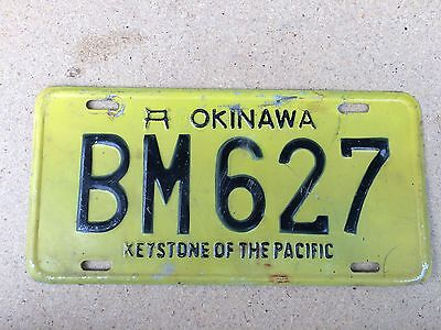 Okinawa, Japan - Special Military US Forces License Plate - Keystone BM 627