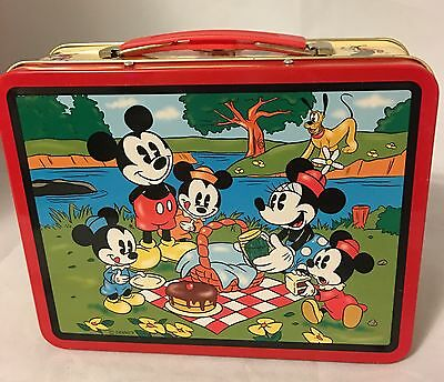 Disney Mickey Mouse And Friends Metal Lunch Box 1997 Series #2 Collectors