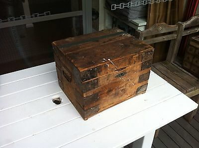 Old Wood Box Wooden Chest