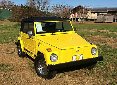 1973 Volkswagen Thing Awesome Mellow Yellow Type 181