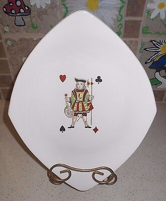 "Vtg 1950s American Limoges Casino Jack 12"" Diamond Serving Platter Playing Cards"