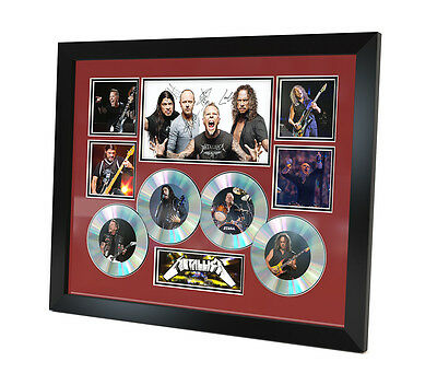 Metallica Signed photo Music Memorabilia Limited Edition of 250 & FRAMED