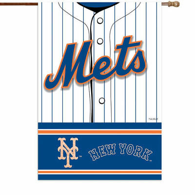 "New York Mets 29"" x 43"" Double-Sided Jersey Foil House Flag - MLB"