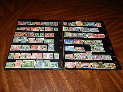 Jamaica stamps - BIG lot of 90 mint hinged and used early stamps - super !!
