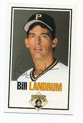 Autographed Card of Pirates Bill Landrum