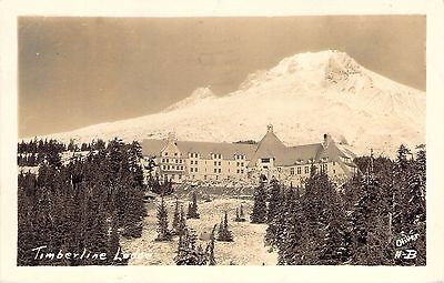 1938 RPPC Timberline Lodge, OR; Oliver photo