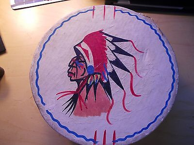 Vintage,tourist,native American Style,route 66 Drum,excellent