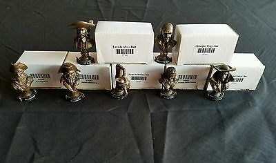 *new* Lot Of 7 Wizkids Pirates Csg Promo Trophy Busts C2