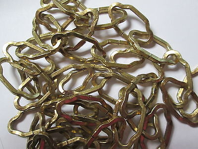 """Vintage Antique Chandelier Chain Gold Rare Petite Cathedral  Italian Tole 36"""""""