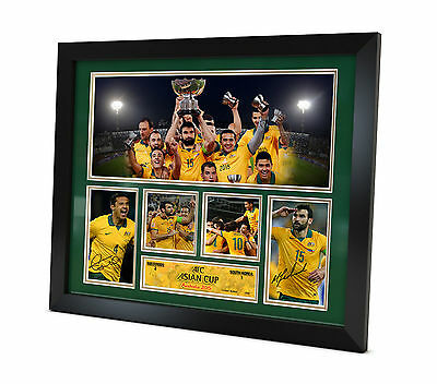 Socceroos Signed photo - AFC Asian Cup 2015 - Memorabilia Framed - CHAMPIONS