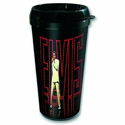 Elvis Presley Name In Lights Plastic Vacuum Travel Coffee Mug 100% Official