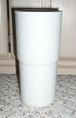 TUPPERWARE Tabletop Stackable 18 oz Tumbler Cup ('J') #2413~White Gray Speckled
