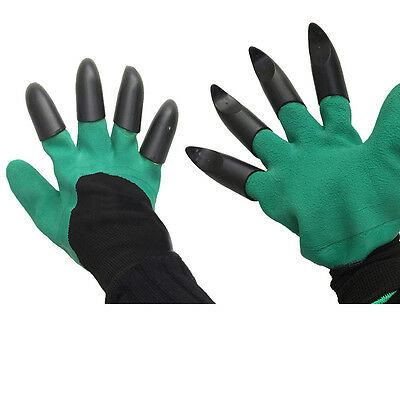 Rubber Garden Gloves Digging Planting Unisex Cut Resist Hand Protectors