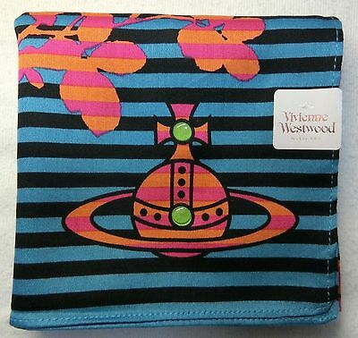 "VIvienne Westwood blue striped handkerchief cotton100% 50X50cm(19.69"")Japan made"