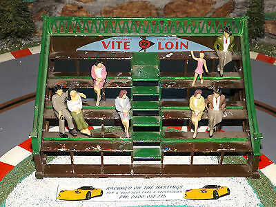 Used 1:32 Vintage Scalextric Grandstand With People. F/GC
