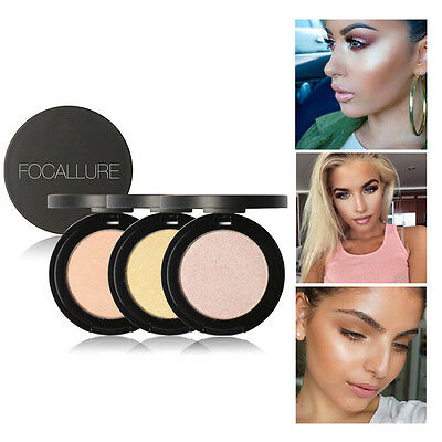 Women Cosmetic Makeup Powder Palette Beauty Highlight Face Foundation Shimmer