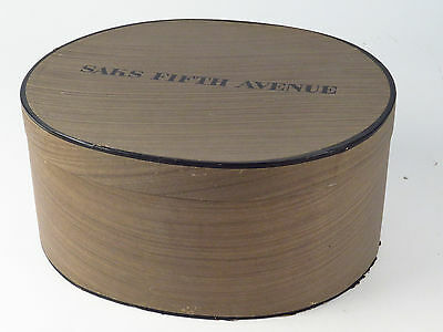 Vintage Saks Fifth Avenue Hat and Box Purple Lovely