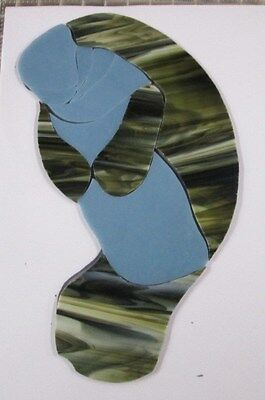 Pre - Cut Stained Glass Turtle, Type 2,  Mosaics, Stepping Stone, Suncatcher