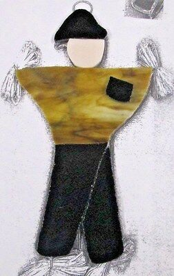 SCARECROW #2, Precut Stained Glass Mosaic Art Stepping Stone Inlay kit, FALL
