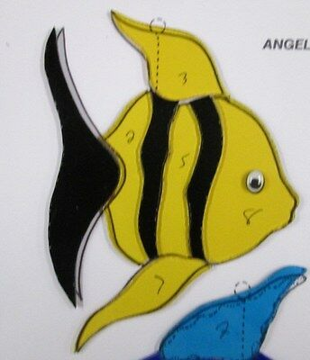 Pre-Cut Stained Glass / Mosaic Angel Fish Kit
