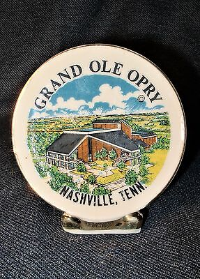 Small Vintage Grand Old Opry Ceramic Souvenir Plate Figurine VGUC