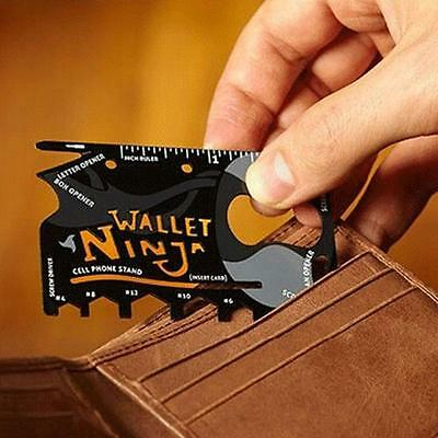 New Stainless Steel Outdoor Multi Military Pocket Credit Card Survival Tools
