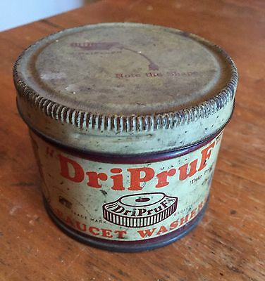 Vintage Dri Pruf Faucet Washers In Tin