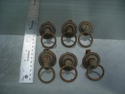 6-vintage-antique brass style drawer pull handles lot #-8