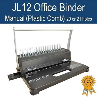 New Home Office Plastic Comb Binder / Binding Machine 21 holes Inc binding pack!