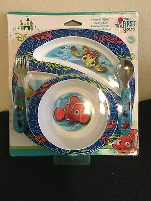 The First Years Finding Nemo 4 Piece Feeding Set Baby Toddler Kids New Gift