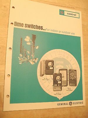 Vintage GE Product Brochure (1967)  Time Switches for Indoor or Outdoor Use