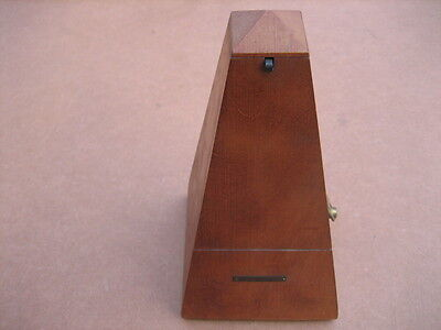 Vintage Seth Thomas Wooden Metronome Wind Music Timer Nice Condition