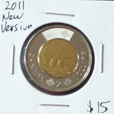 2011   New Version   Canadian 2 Dollars