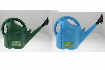high impact plastic watering can a big 9 litres w/guage 2 cols 50cm x 37c x 18c