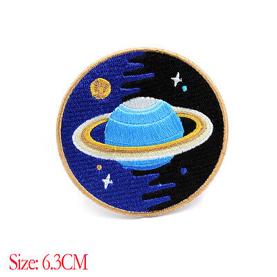 New Blue Space Explorer Quality Patch Iron On Applique Embroidered Sew Craft DIY